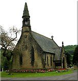 SE1039 : One of the Cemetery Chapels at Bingley Cemetery by Betty Longbottom
