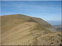 SH6261 : Mynydd Perfedd and Bwlch y Brecan from the foot of Foel Goch by Eric Jones