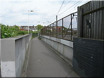 TQ2182 : Footpath, Willesden Junction Station to Harrow Road. by Danny P Robinson