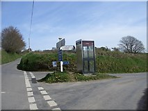 SS6138 : Public Telephone at Loxhore road junction by Paul Jennings
