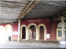 NS4075 : Entrance to Dumbarton East train station by Stephen Sweeney