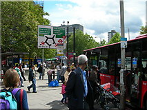 TQ3179 : Pavement on London Road, Elephant and Castle. by Danny P Robinson