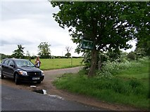 TM4072 : Bright's Farm entrance, Bramfield by Trevor Alder