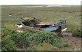 TG0244 : Marooned in the salt marsh by Pauline E