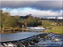 SE0063 : Both weirs on the river Wharfe from Linton Falls Bridge by Joe Regan