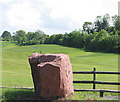 SO6425 : Entrance marker to South Herefordshire Golf Club by Pauline E