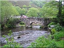 SX7489 : River Teign: Fingle Bridge by Nigel Cox