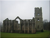 SE2768 : Fountains Abbey -winter view by rob bishop
