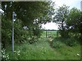 TL1675 : Bridleway & Bridge SW of Alconbury Weston by Nigel Stickells
