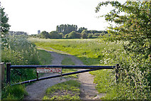 SJ8092 : Entrance to Parkway Model Flying Club field by Phil Champion