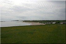 NU2424 : Low Newton-by-the-Sea under a mackerel sky by Dave Dunford