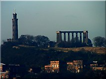 NT2674 : Calton Hill from Salisbury Crags by Keith Howard