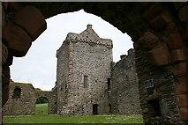 NR9057 : Skipness Castle. by Steve Partridge