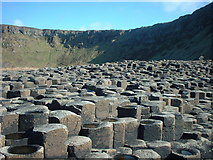 C9444 : Rock formations at Giants Causeway by Adie Jackson