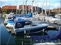 SU4208 : Moorings in Hythe Marina by Colin Smith