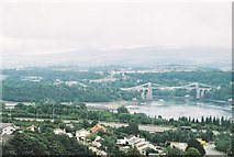 SH5571 : Menai Bridge from Marquis of Anglesey's Column by Chris Downer