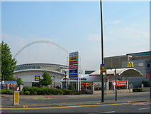 TQ1986 : Stadium Retail Park, Wembley Park by Danny P Robinson