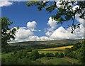 SO3432 : The Black Mountains from Fair Oak (Farm) by Hugh Chevallier