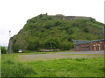 NS4074 : Dumbarton Rock from grounds of Strathclyde Homes Stadium by Stephen Sweeney