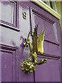 NZ2741 : The Jabberwocky door knocker of the Chorister School by Carol Rose