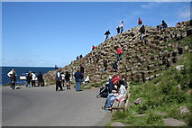 C9444 : Tourists at the Giant's Causeway by Dr Neil Clifton