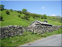 NY3805 : Small barn and sheepfold by Alexander P Kapp