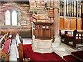 NY1153 : Christ Church, Silloth, pulpit by Alexander P Kapp