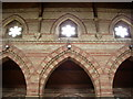 NY1153 : Christ Church, Silloth, wall and arch detail by Alexander P Kapp