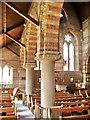 NY1153 : Christ Church, Silloth, pillar detail by Alexander P Kapp