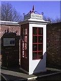 SO9568 : K1 Kiosk at Avoncroft Museum by Peter Walker