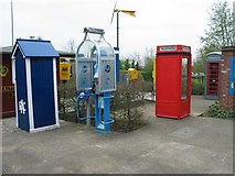 SO9568 : Avoncroft Museum - collection of payphones by Peter Walker