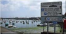 SW4730 : Penzance harbour by Kenneth  Allen