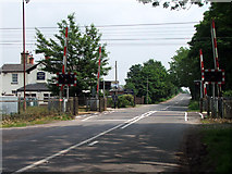 SK7964 : Level Crossing, Carlton-on-Trent by James Hill