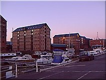 SO8218 : Gloucester Docks Marina by Helga Perry