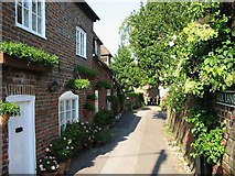 TR1859 : Looking E along School Lane, Fordwich by Nick Smith