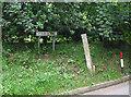 SO6825 : Depth gauge in Ford Lane by Pauline E