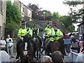 SD9807 : Police Horses in Delph by Paul Anderson