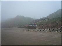TA1281 : Filey - Sailing Club viewed from Beach by Alan Heardman