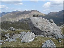NG9980 : Perched Boulders, Beinn a'Chaisgein Mor by Tony Kinghorn
