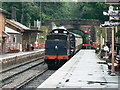 ST1628 : The 15.19 WSR train from Minehead arrives at Bishops Lydeard by Brian Robert Marshall