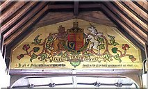 TL3706 : St Augustine, Broxbourne, Herts - Royal Arms by John Salmon