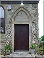NY1035 : Door, old chapel by Alexander P Kapp