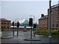 NZ2564 : The Waterline Public House, Newcastle, with The Sage, Gateshead in the background. by Bill Henderson