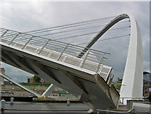 NZ2564 : Millennium Bridge, North Pier by Stephen Horncastle
