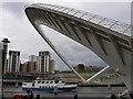 NZ2563 : Millennium Bridge, North Pier by Stephen Horncastle