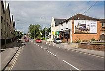 SU4619 : Approaching the railway bridge in Bishopstoke Road, Eastleigh by Peter Facey