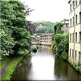 SD9926 : Rochdale Canal from Station Road by Betty Longbottom
