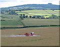 SO6523 : Crop spraying in Bromsash by Pauline E