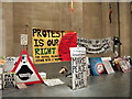 TQ3078 : Parliament Square peace campaign at the Tate by ceridwen