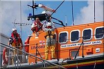 J3729 : Launching Newcastle lifeboat (2 of 7) by Albert Bridge